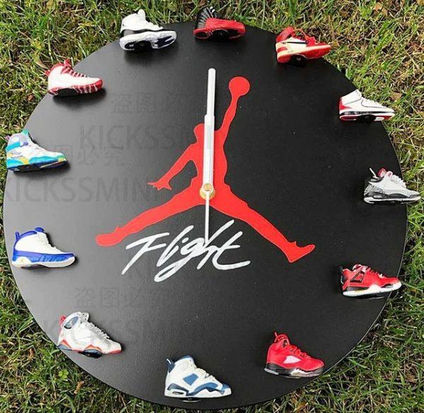 Air Jordan wall clock with sneakers – Mini Sole Shop